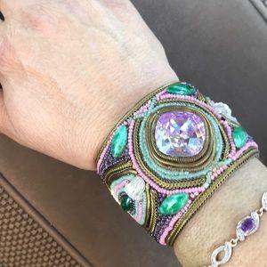 M & J Hansen Designs 1988 RARE cuff bracelet M J